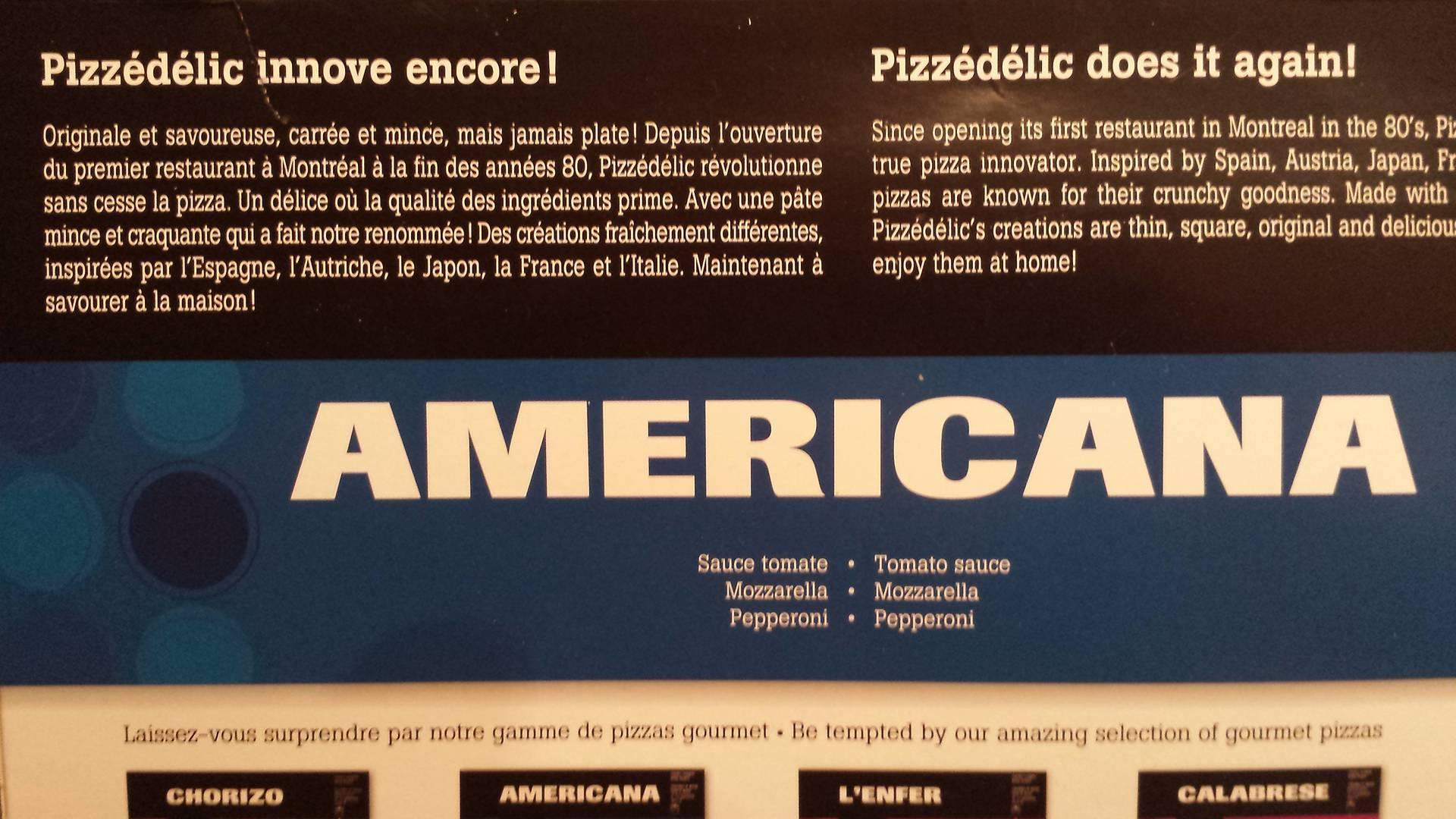 Pizza surgelée Pizzadélic Americana