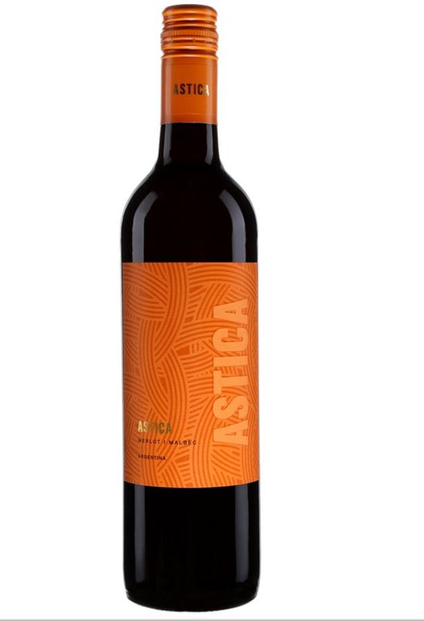 Vin rouge Astica d'Argentine