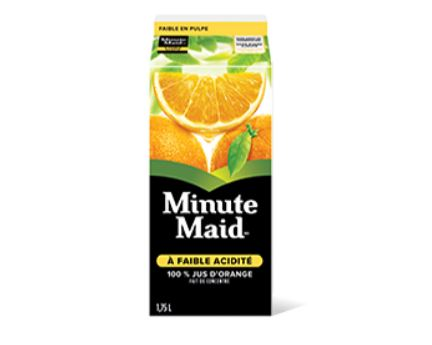 Jus d'orange à faible acidité de Minute Maid