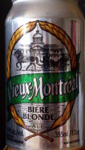 Bière blonde Vieux-Montréa;