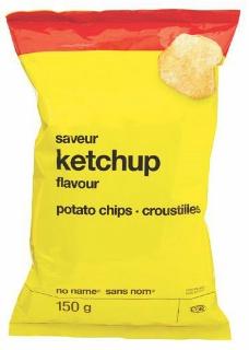 Croustilles sans nom saveur de ketchup