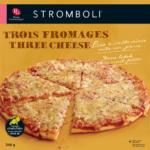 Pizza à croûte mince cuite sur pierre Stromboli trois fromages