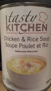 soupe poulet et riz Tasty Kitchen