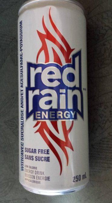 Red Rain energy sans sucre