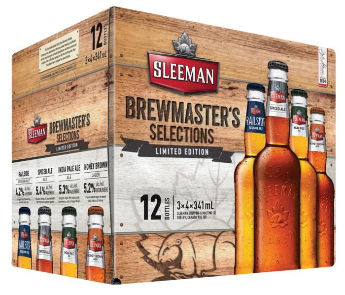 Sleeman Brewmaster's Selection - Spiced Ale, Railside Session Ale, Cream Ale, Silver Creek, Fine Porter, Silver Creek, India Pale Ale