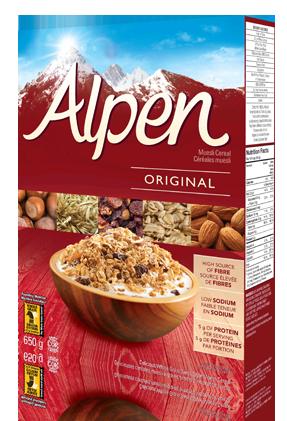 Céréales Alpen Original de type muesli