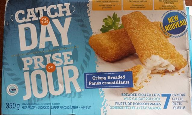 Prise du jour - filets de poisson panés