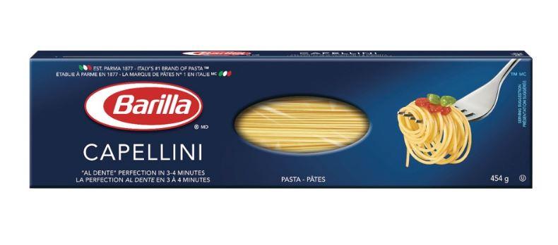 Pâtes capellini de Barilla