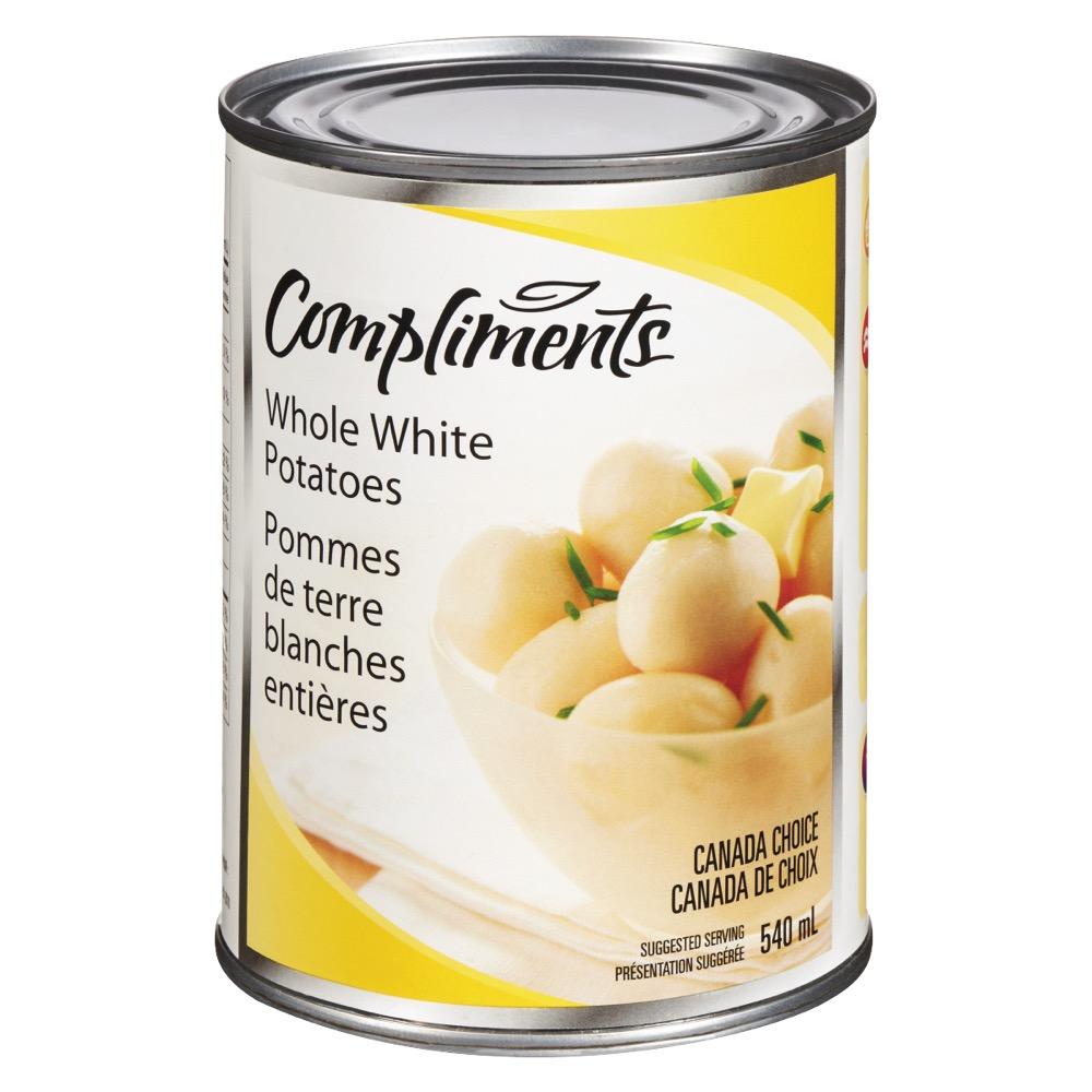 Pommes de terre blanches Compliments en conserve