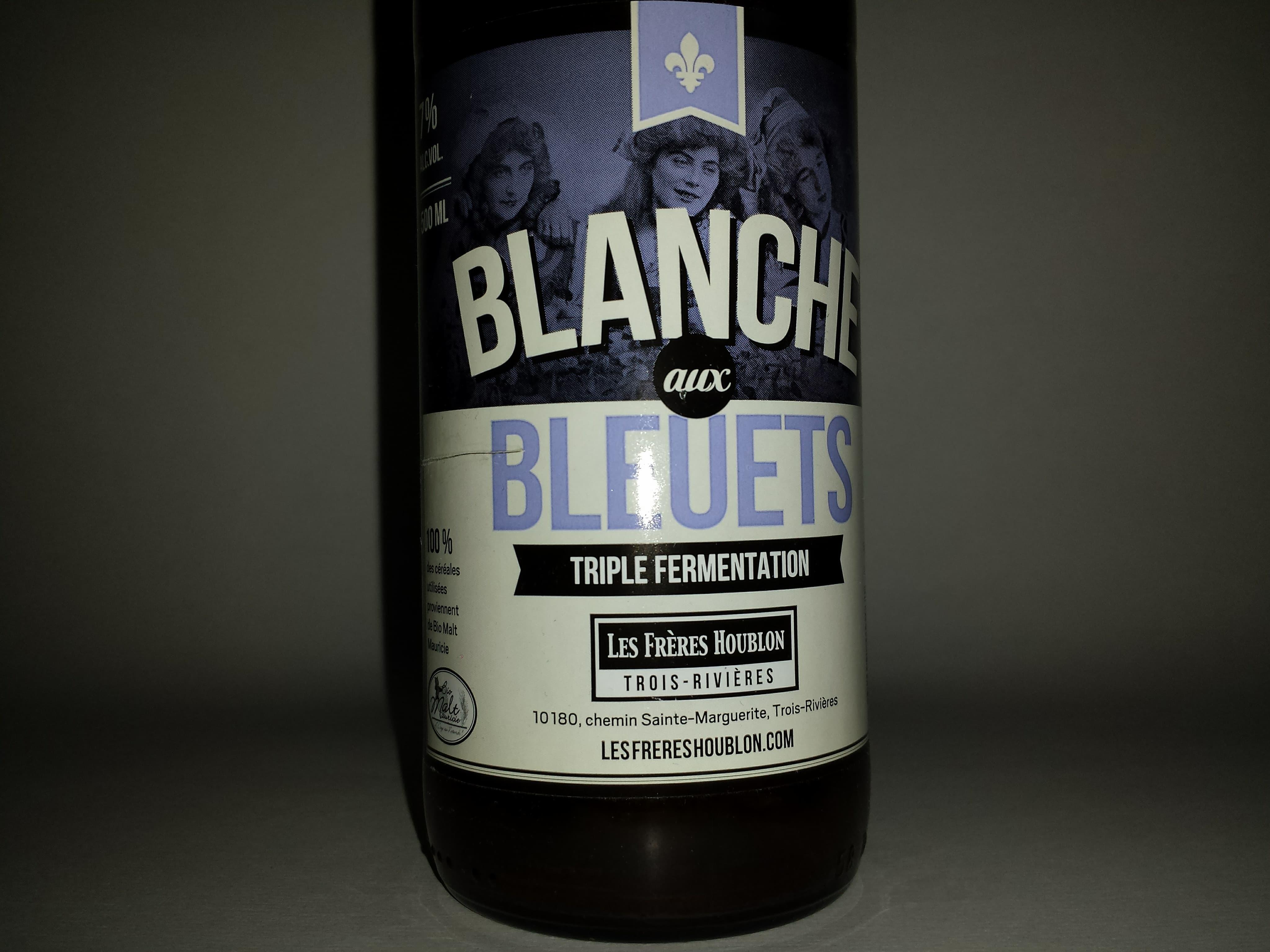 Bière Blanche aux Bleuets de la microbrasserie Les Frères Houblon