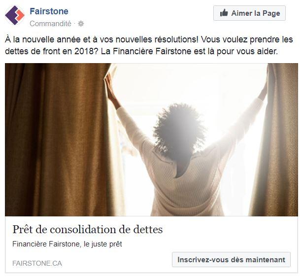 publicité Financière Fairstone