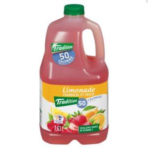 Limonade framboise et fraise Tradition