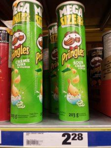 Pringles crème sûre et oignon