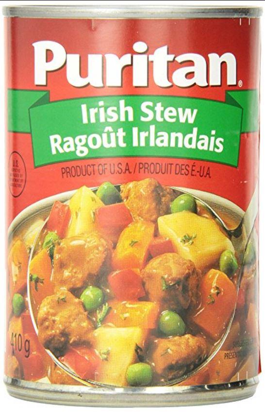 Ragoût irlandais Puritan