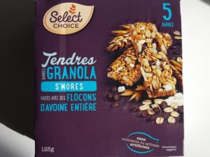 Barres tendres Granola S'Mores de Select Choice
