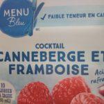 Cocktail canneberge et framboise Le Choix du Président Menu Bleu