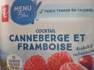 cocktail canneberge et framboise Le Choix du Président, Menu Bleu