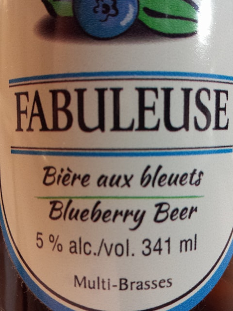 Fabuleuse bière aux bleuets