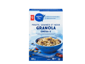 Fruits, graines et noix Granola de Menu Bleu par Le Choix du Président