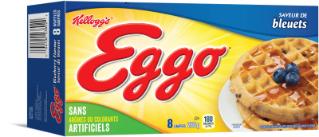 Gaufres Kellogg's Eggo saveur de bleuets