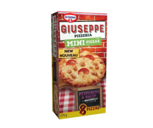 Mini pizzas au pepperoni et au bacon Giuseppe de Dr. Oetker