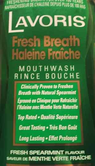 Rinche bouche Lavoris à la menthe verte
