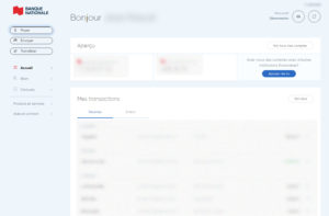Banque Nationale nouvelle interface