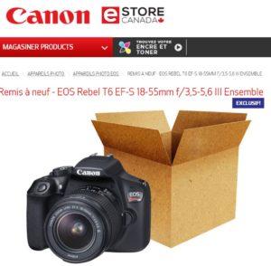 Soyez vigilants avec les rabais de Canon eStore Canada