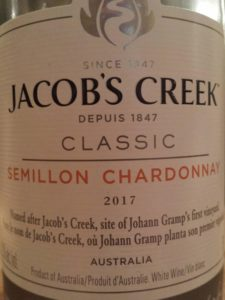 Jacob's Creek Classic Semillon Chardonnay 2017