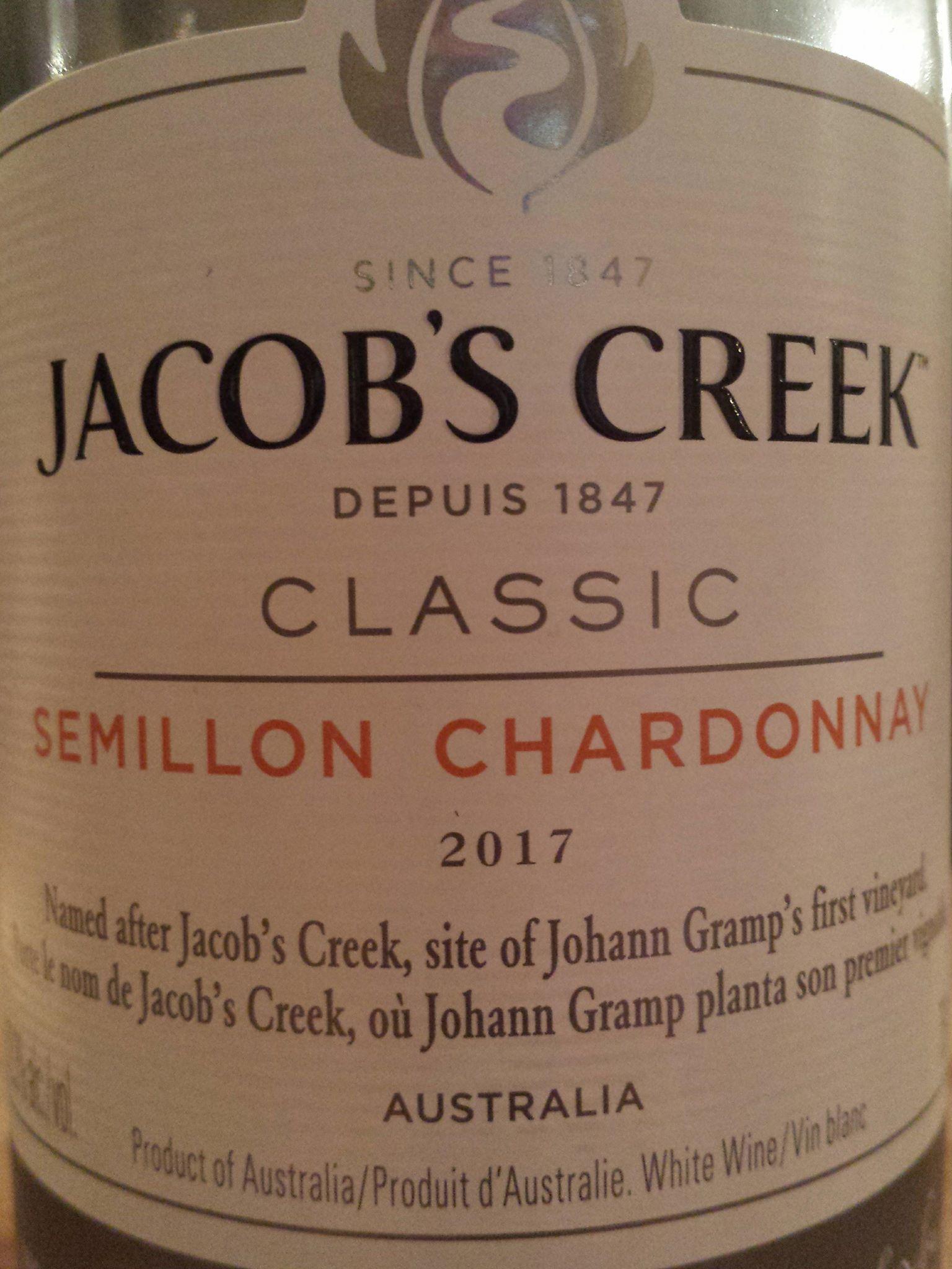 Jacob's Creek Classic Semillon Chardonnay 2017