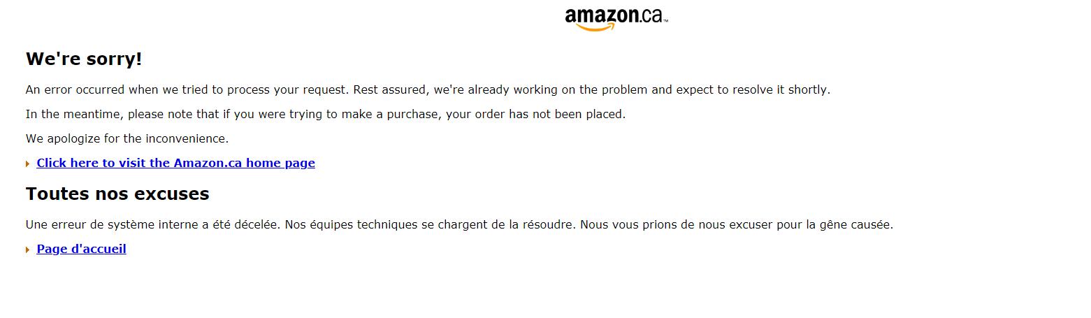 Quelques difficultés pour Amazon Canada en ce Prime Day du 16 juillet 2018