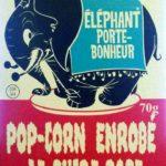 Pop-corn enrobé de sucre rose – Éléphant porte-bonheur