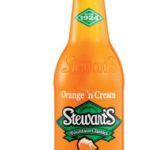 Boisson gazeuse soda mousse à l'orange Stewart's