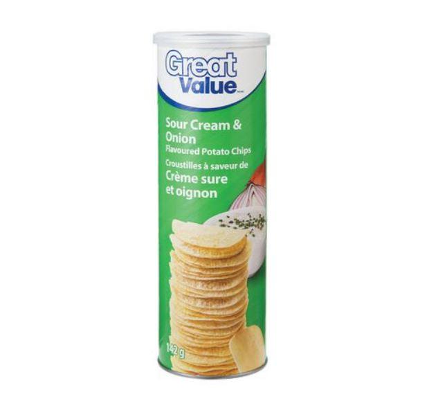 Croustilles crème sure et oignon Great Value