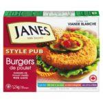 Rappel de burgers de poulet de la marque Janes