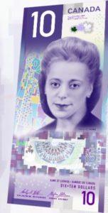 nouveau billet de 10$ au Canada