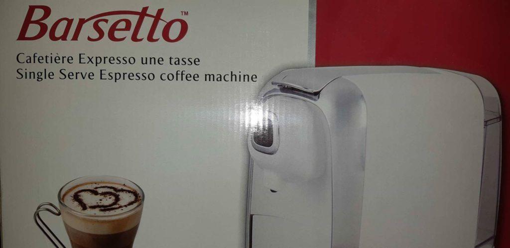 Cafetière Expresso une tasse Barsetto blanche
