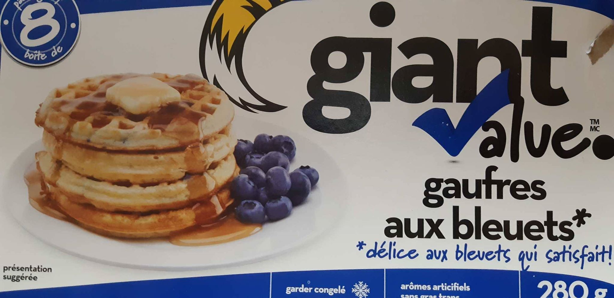 Gaufres aux bleuets Giant Value