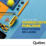 Consultation publique sur les frais scolaires