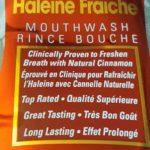 Rince bouche Lavoris saveur de cannelle originale