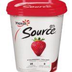 Yogourt Yoplait Source 0% aux fraises