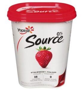 Yogourt Source aux fraises