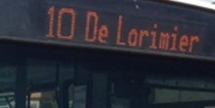 Autobus 10 De Lorimier Sud et Autobus 10 De Lorimier Nord