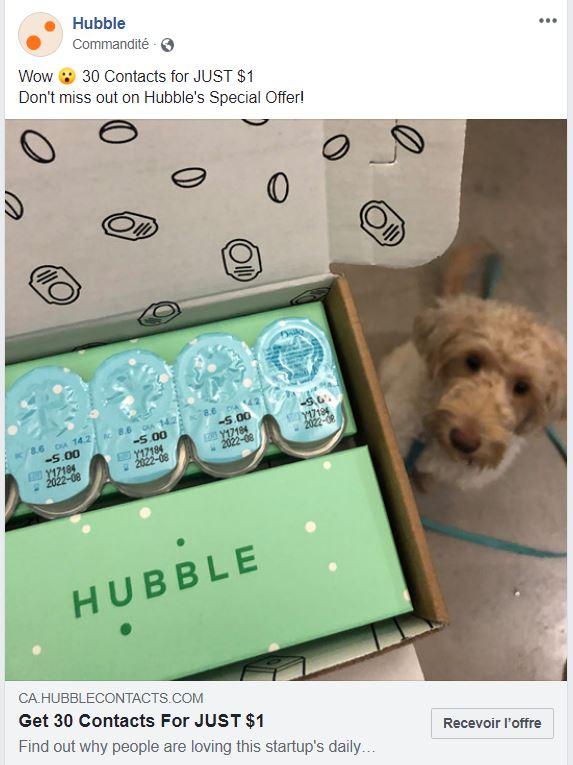 Hubble verres de contact