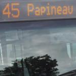 Autobus 45 Papineau sud et Autobus 45 Papineau Nord