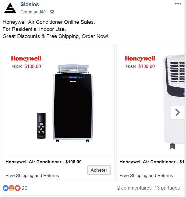 climatiseur portable Honeywell 14000 BTU