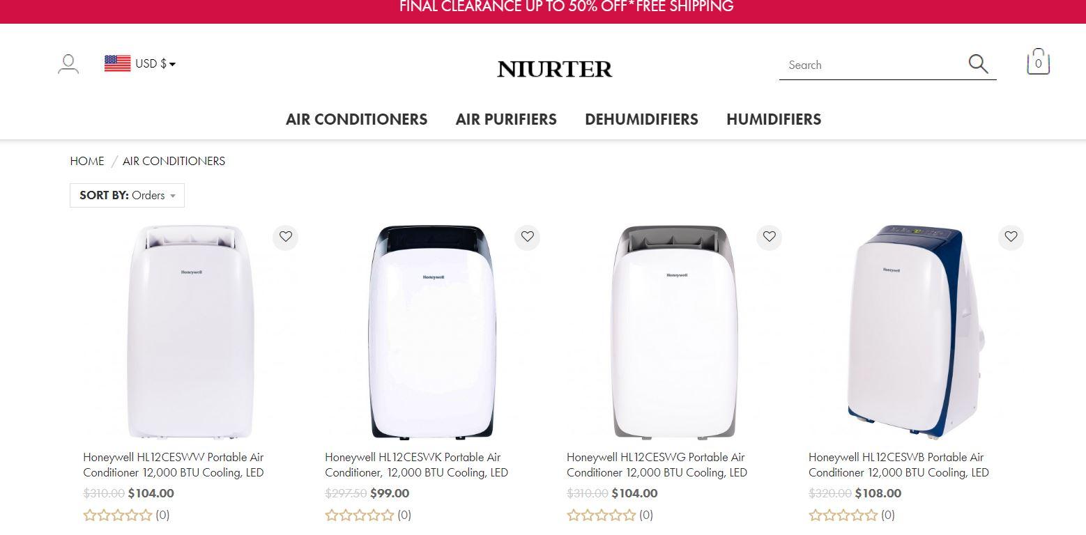 Niurter - vend un climatisur portable Honeywell