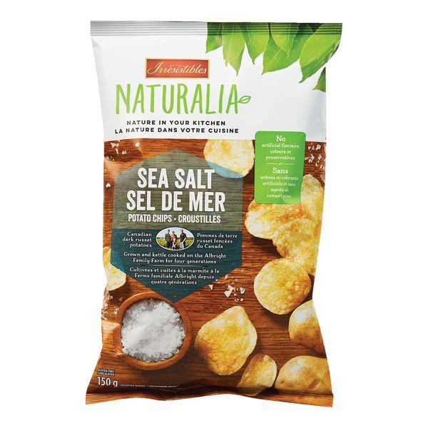 croustilles au sel de mer Naturalia d'Irrésistibles