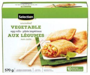 Egg rolls aux légumes de Selection