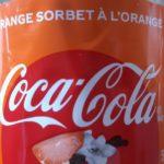 Coca-cola sorbet à l'orange
